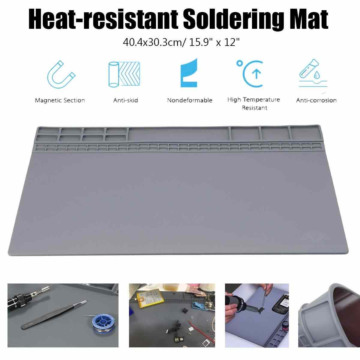 Insulation Pad Heat Resistant Soldering Station Silicon Soldering Mat Work Pad Desk Platform Soldering Repair Station