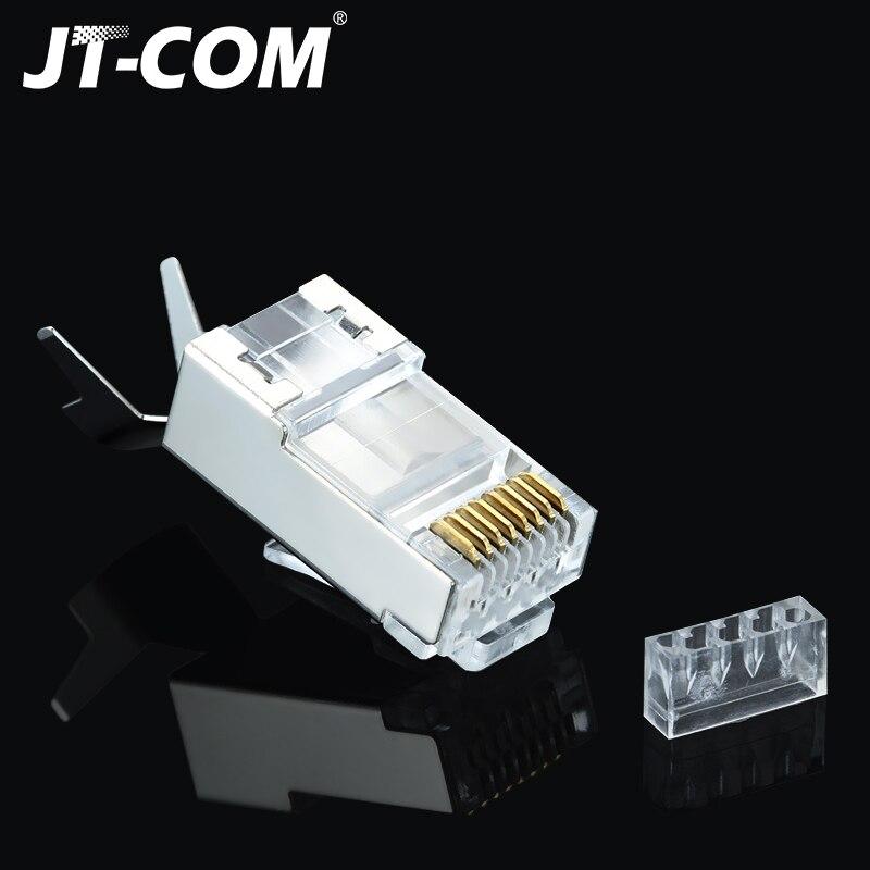Cat5 Cat5e Network 8P8C RJ45 Metal Cable Modular Plug 100x Connector Terminals