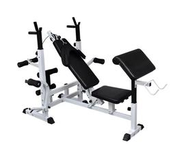vidaXL Multi Station Weight Bench Press Leg Curl Home Gym Weights Incline Flat Decline Sit Up Bench fit Equipment Adjustable