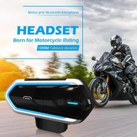 DC 5V Bluetooth Motorcycle Helmet Headset with Microphone 450mAh Wireless Bluetooth 4.1 Intercom Free Headset Interphone