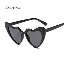 New Fashion Love Heart Sunglasses Women Cute Sexy Retro Cat Eye Vintage Cheap Sun Glasses Black Red Female Eyewear UV400
