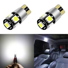 1 Piece T10 W5w Led 194 5050 5Smd Car Dome Reading Light Automobiles Wedge Lamp Bulb