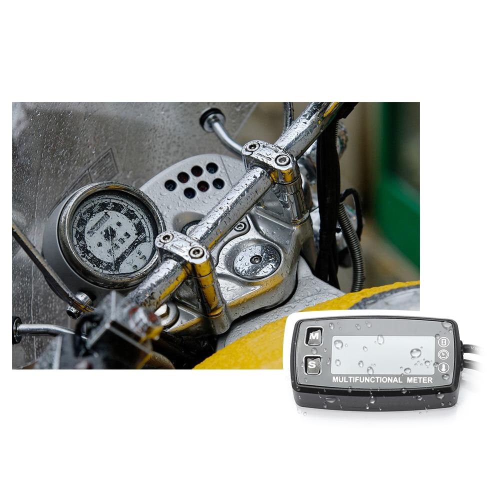 Nouveau tachymètre numérique de compteur d'heure de LED fonctionnel pour le petit tachymètre de compteur d'heure de moteur à essence de moto de bateau de moteur