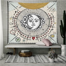 Loartee Fantasy Moon Sun Star Tapestry Dream Indian Hippie Life Cloth Home Wall Hanging Decoration  Blanket