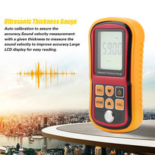 Thickness Tester GM100 Ultrasonic Thickness Gauge 1.2 to 200MM Steel Sound Velocity Meter Width Testing Monitor