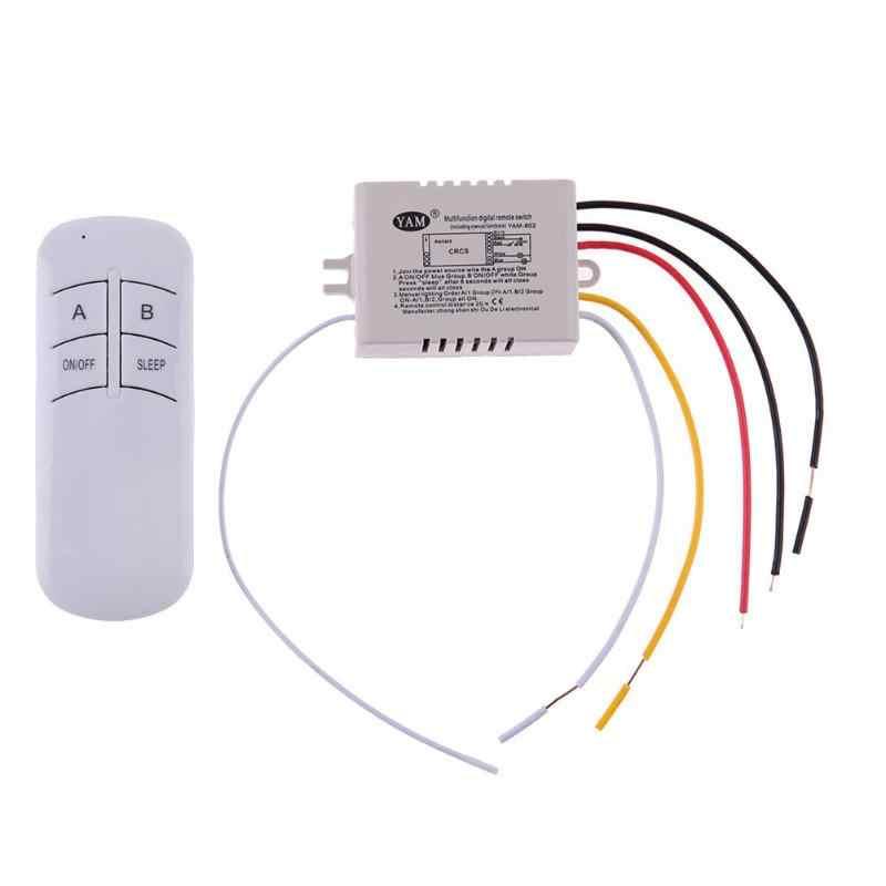 Sem fio 1/2/3 maneiras 220 v receptor interruptor de controle remoto da lâmpada interior para lâmpada de lâmpada de ligar/desligar transmissor de controle remoto