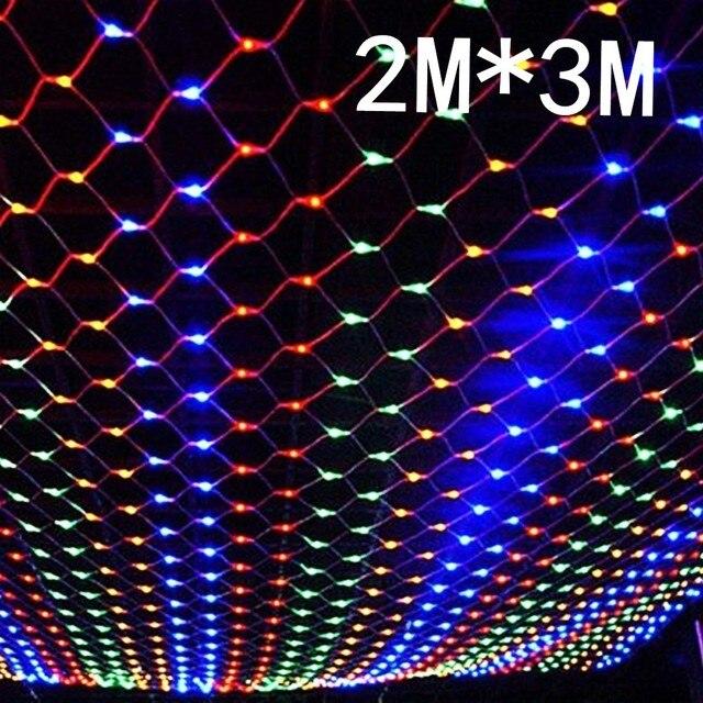 3x2M LED Net Mesh Fairy String Light Garland Window Curtain Christmas Fairy Light Wedding Party Holiday Light