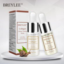 Breylee Snail Serum Collagen Serum Repairing Lifting Firming Essence Hyaluronic Acid Moisturizing Anti-aging Face Skin Care 1pcs