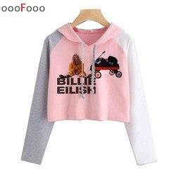 Billie Eilish hoodie Women 2019 sweatshirt streetwear Hooded female Harajuku Hoodies top sweatshirts Print Clothes Plus Size 6