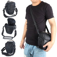 лучшая цена 1pc Shockproof Camera Case Black Waterproof DSLR Cameras Triangle Shoulder Sling Bag Case For Canon Nikon Sony Mayitr