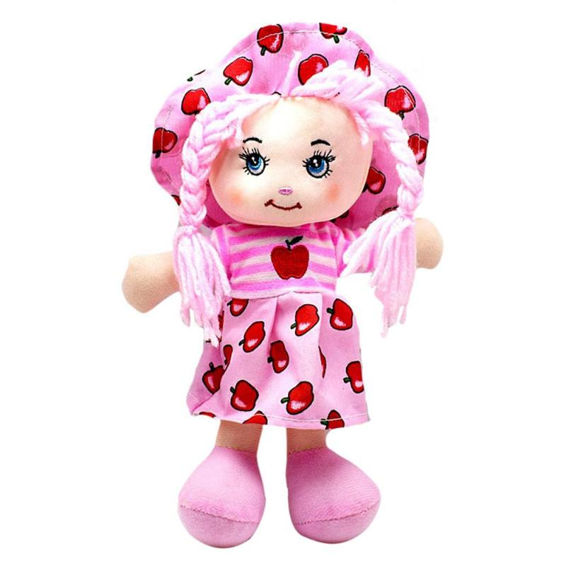 Image 5 - 25cm Cartoon Kawaii Fruit Skirt Hat Rag Dolls Soft Cute Cloth Stuffe Toys for Baby Pretend Play Girls Birthday Christmas Gifts-in Dolls from Toys & Hobbies