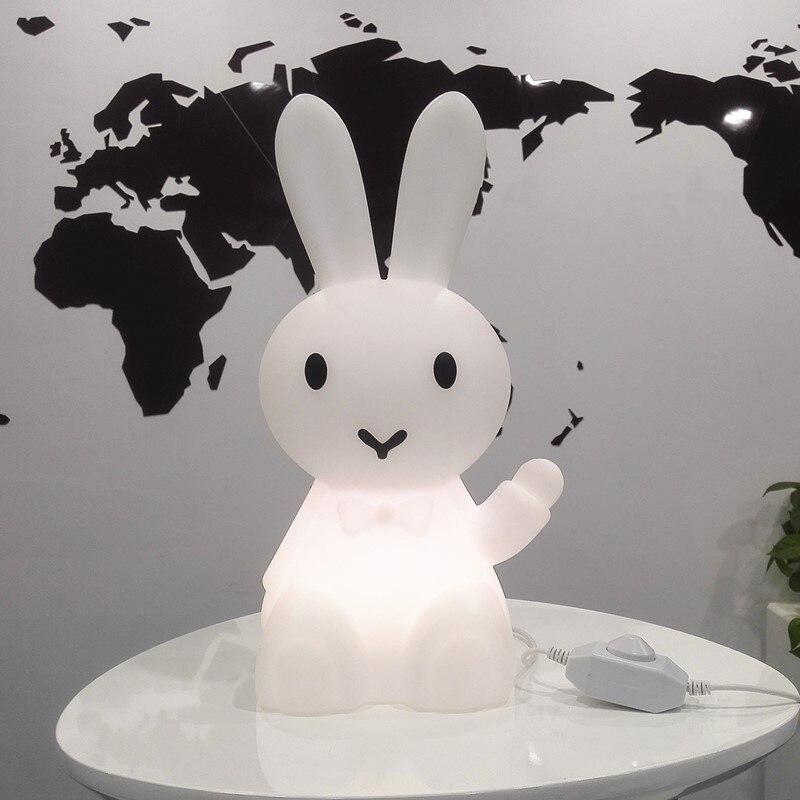 36 cm de Bande Dessinée Lapin Lièvre Lapin Lampe Led Night Light Pour Les Enfants Enfants Cadeau Salon De Chevet Décor de Bureau Dimmable bébé Lumière