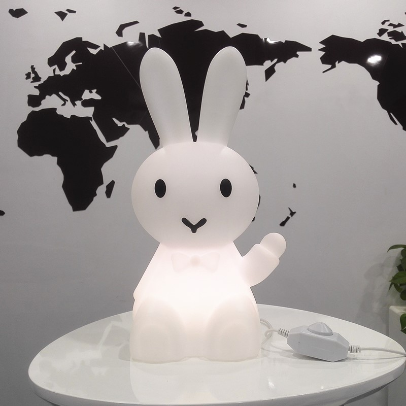 36cm Cartoon Bunny Hare Rabbit Lamp Led Night Light For Children Kids Gift Living Room Bedside Desk Decor Dimmable Baby Light