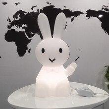 36cm Cartoon Bunny Hare królik lampa Led lampka nocna dla dzieci dzieci prezent salon nocne biurko Decor możliwość przyciemniania Baby Light