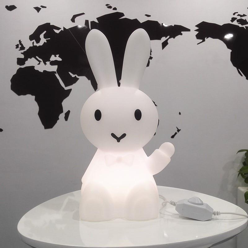 36cm Cartoon Bunny Rabbit Table Lamp Led Night Light For Children Kids Gift Living Room Bedside Desk Decor Dimmable Baby Light