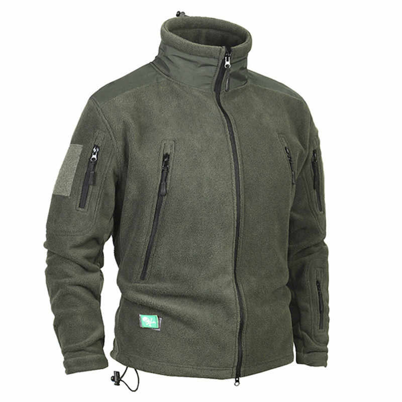 Heren Winter Thicken Warm Fleece Jas Outdoor Riding Klimmen Wandelen Jacht Camping Thermische Militaire Tactische Winddicht Jas