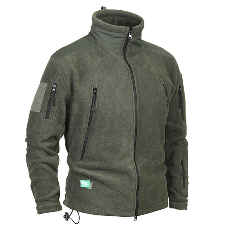 Mens Winter Thicken Warm Fleece Coat Outdoor Riding Climbing Hiking Hunting Camping Thermal Military Tactical Windproof Jacket