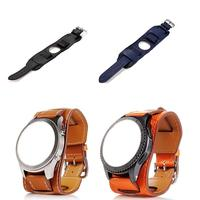 22MM Genuine Leather Watch Band Cuff Strap Bracelet For Samsung Gear S3 Frontier / S3 Classic Smart Accessories