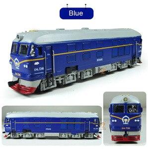 Image 5 - 高シミュレーション 1: 87 合金ディーゼル機関車内部燃焼機関車モデルおもちゃの音響光学の列車のおもちゃ子供