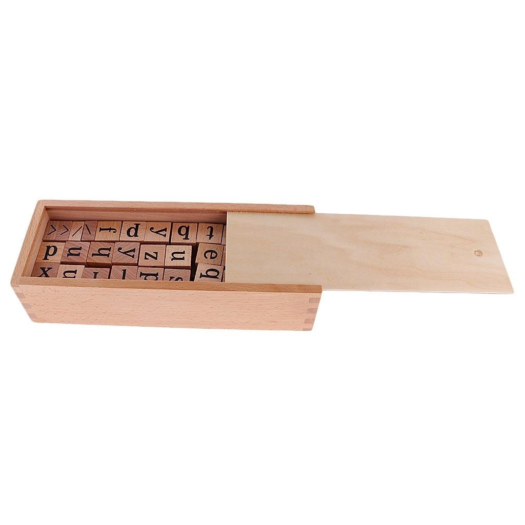 Montessori matériel éducatif en bois Alphabet lettres boîte phonétique blocs début d'apprentissage jouet cadeau d'anniversaire pour bébé enfants