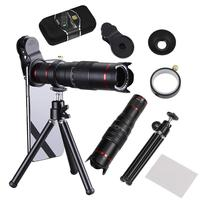 22X Mobile Telephoto Lens with Phone Lens Clip Flexible Tripod Universal Telephoto Zoom Camera Lens Kit HD Scale Distance FOV