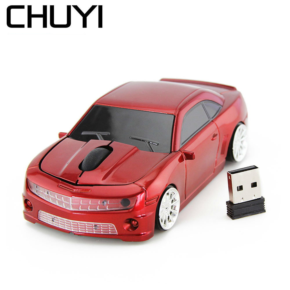 Chuyi Wireless Mouse Cool Sport Car Usb Optical Mice Gamer 1600dpi Computer 3d Gaming Yellow Mause For Boy Pc Laptop Gift Modern And Elegant In Fashion