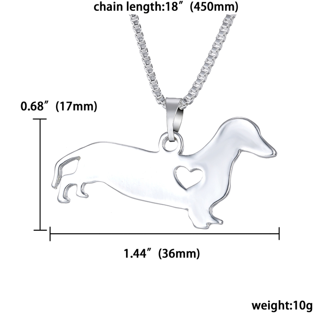 Fashion Silver Dachshund Shaped Pendant
