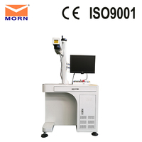 20 watt MAX laser source desktop fiber laser marking machine wedding ring marker with rotary device for sale