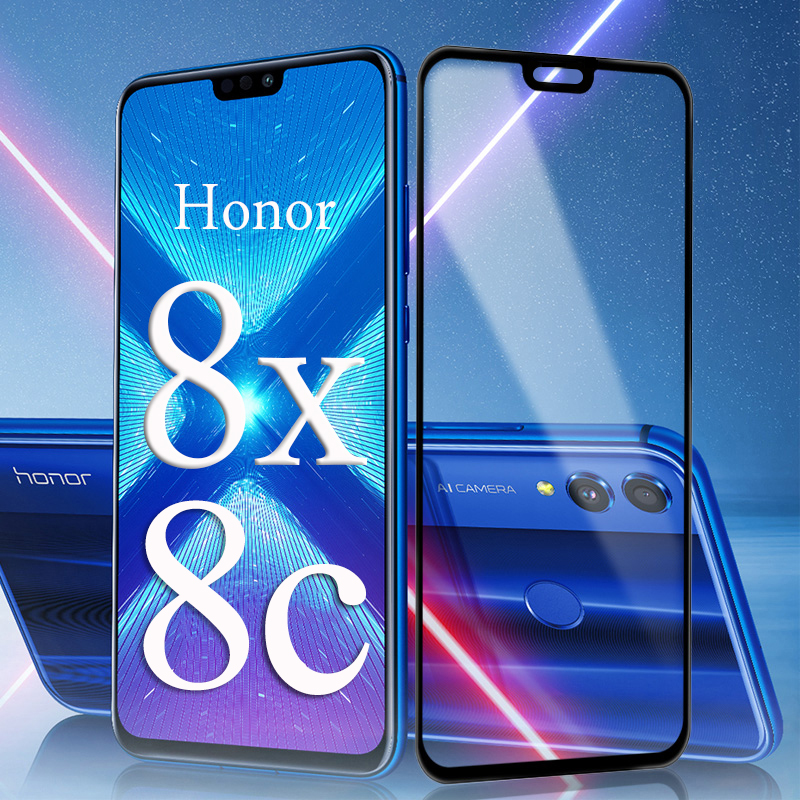 3D Protective Glass For Huawei Honor 8x 8c 8 X C Screen Protector Tempered Glas Huavei Hauwei Huawey Honer Honor8x Honor8c Film