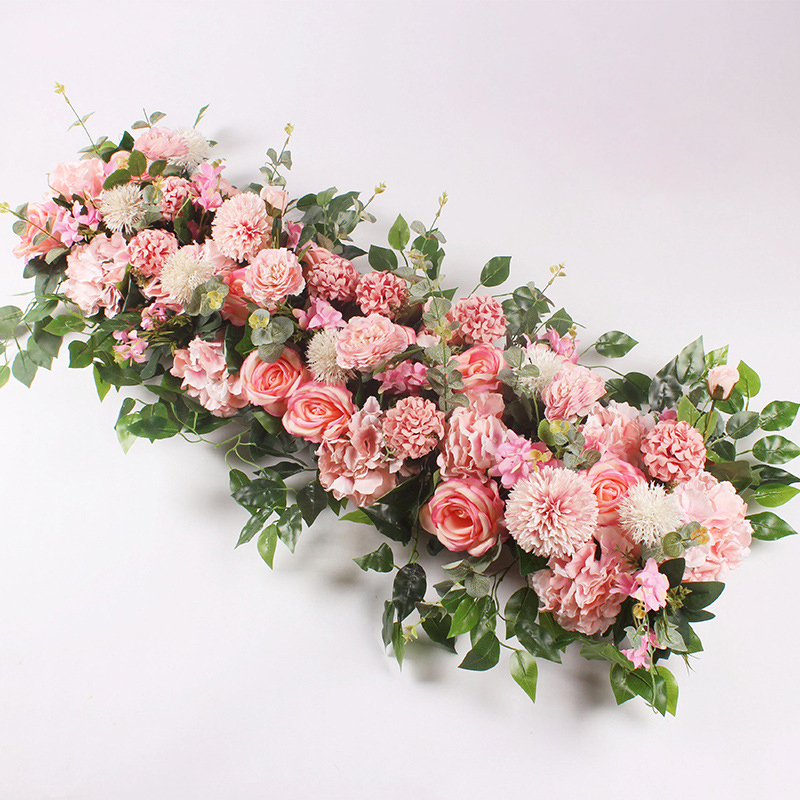 50/100cm Custom Wedding Flower Wall Arrangement Supplies Silk Peony Artificial Flower Row Decor Romantic Diyiron Arch Backdrop