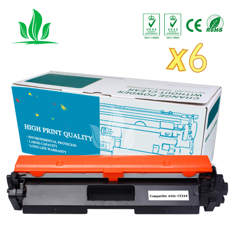 7PCS CF218A 218A 18A TONER CARTRIDGE FOR HP LaserJet Pro M104a M104w M132fn M132nw M132fp M132fw M132a No Chip
