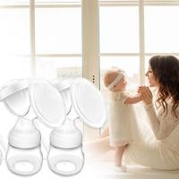 1set Manual Double Electric Breast Pumps Nipple Suction USB Electric Breast Pump With Baby Milk Bottle Safety Cold Heat