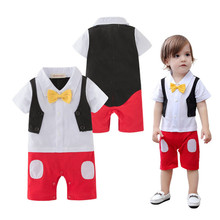 Summer Short Sleeve Baby Newborn Clothes Fashion Bodysuit Casual Bebek Tulum High Quality Babies Costume