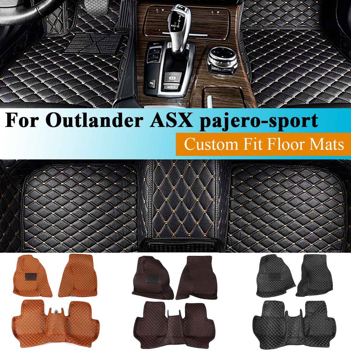 Car Waterproof Floor Mats For Mitsubishi Outlander Pajero Sport Asx 2011 2012 2013 2014 2015 Car Accessories Floor Pad Foot Pad