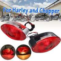 12v luz de freio de olho de gato  luz de freio traseiro lâmpada vermelha para harley chopper