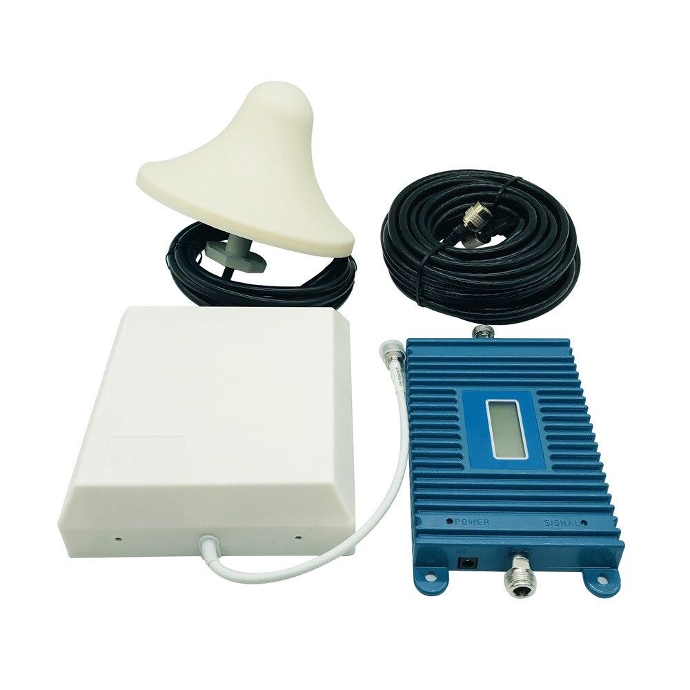 LEORY 4G répétidor LTE 800 Mhz (bande 20) 4G amplificateur de Signal 70dB amplificateur de répéteur de Signal cellulaire pour téléphone portable antennes 4G avec 10 M