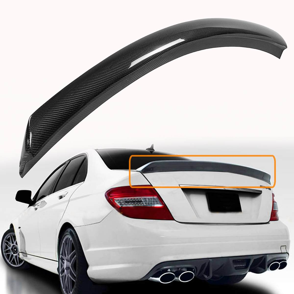 Carbon Fiber AMG Style Trunk Spoiler Wing for 2012-2014 Mercedes R231 SL Class