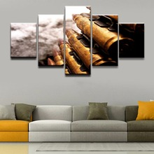 Modern Wall Art Home Decor Pictures 5 Pieces Bullet Weapon Poster Decoration Artwork Top-Rated Canvas Print