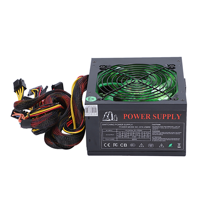 170-260V Max 600W alimentation Psu 12Cm Pfc ventilateur silencieux 24Pin 12V ordinateur Sata Gaming Pc alimentation pour Intel pour Amd Com