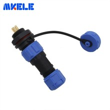 Waterproof Aviation Connectors 13MM Straight Rear Nut Connector SP13 6 Pin Aeronautical Plug And Socket Protective IP68