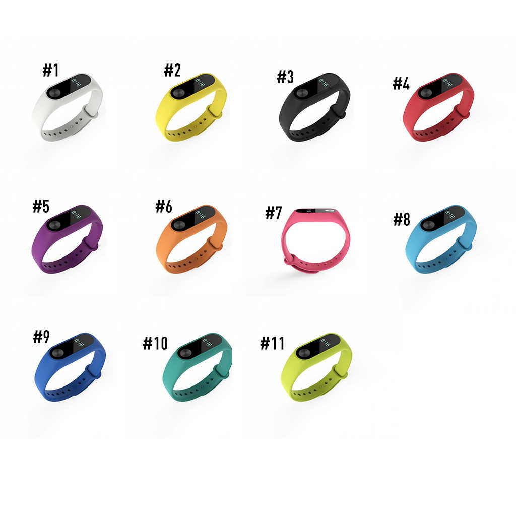 17 Colors for Xiaomi Mi Band 2 Strap Bracelet Strap Miband Replacement Silicone Wristband for Xiaomi Band 2 Accessories