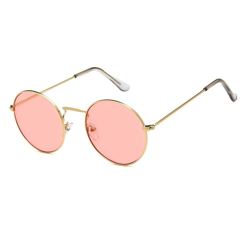 Zilead Fashion New Retro Round Sunglasses Women Brand Designer Sun Glasses For Female Alloy Mirror Oculos De Sol Black Eyewear