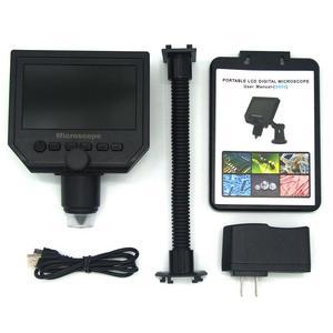 Image 5 - 600X הגדלה 3.6MP USB דיגיטלי אלקטרוני מיקרוסקופ דיוק תיקון נייד 8 LED VGA תעשיית מיקרוסקופ