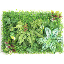 1pc 40*60cm Artificial Grasses Plants Wall Panel Fake Lawn Leaf Fence Foliage for Home Garden Decor Greenery