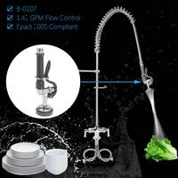 Pre Rinse Spray Nozzle Pull Down Faucet Nozzle Kitchen Restaurant Water Saver Spout Shower Faucet Tap Spray Head B 0107 1.42 GPM