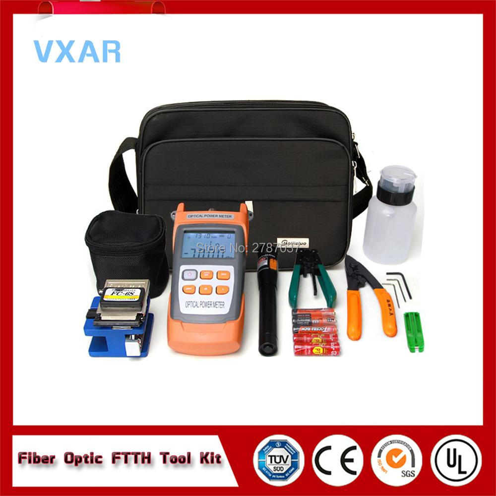 FTTH Tool Kit With FC-6S Fiber Cleaver ,FTTH Fast Connector Fiber Optic Termination Tool Kit