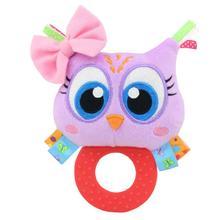 Купить с кэшбэком Newborn Baby Toys Unisex Teether Cartoon Rattle Bell 8 Types Gripping Animal Plush Rattles Hand Dolls 0-2 Years Old 50g