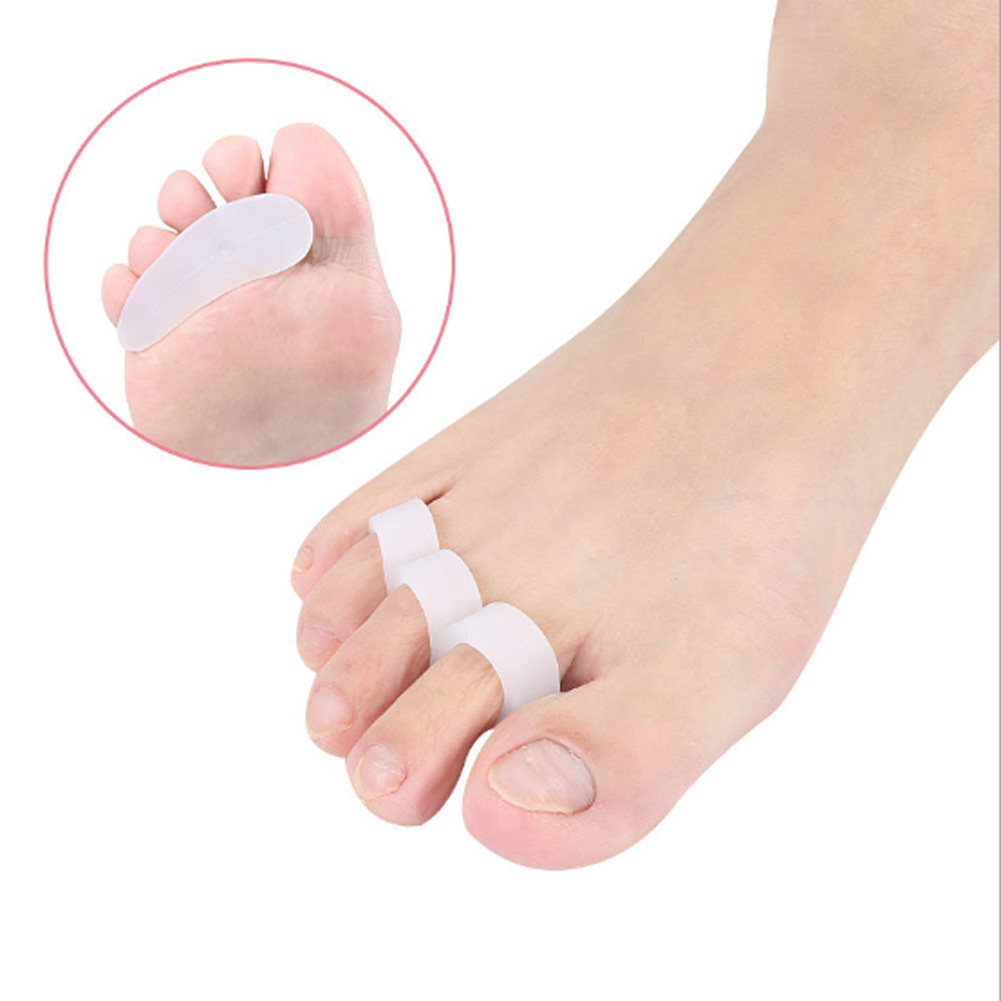 1 Pair Soft Claw Hammer Foot Toe Gel Pads Separator Crest Straightener Stretcher