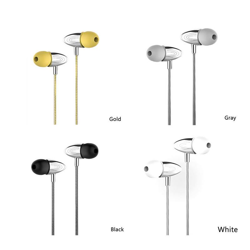 Image 5 - Portable Earphones Metal Wired In ear Style Mobile Phone Earbuds Stereo Hd Sounds Surrounding Devices With Mic Hands free Calls-in Phone Earphones & Headphones from Consumer Electronics