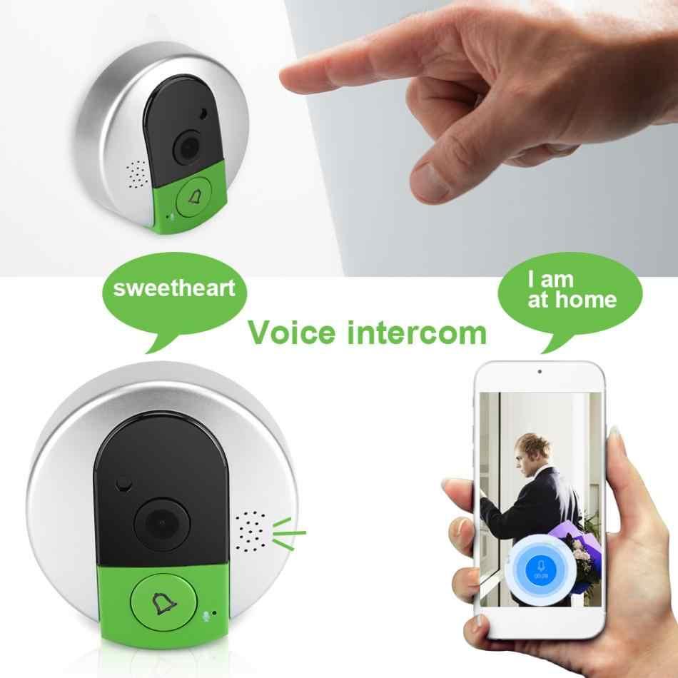 Бытовой умный Визуальный дверной звонок WiFi 750 P HD Беспроводная визуальная камера Дверной замок ночного видения Домофон инструмент скидка